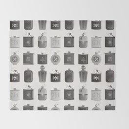 Flask Collection – Black Palette Throw Blanket