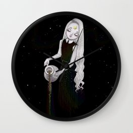 Galaxy colors rainbow goddess Wall Clock