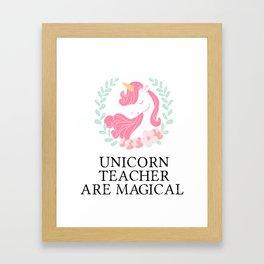 Unicorn Teacher Funny School Teaching Gift Framed Art Print