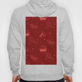 Fast Food Snacks Attack - Pizza Pie Hot Dogs Chicken Wings! on Red Hoody