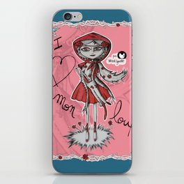"""I love mon loup"" iPhone Skin"