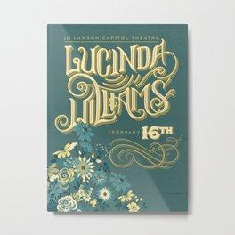 Lucinda Williams  Metal Print