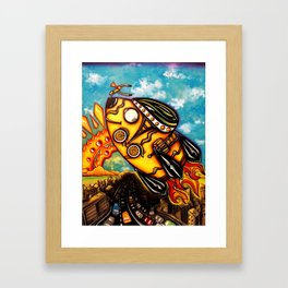 Rocket Bike Framed Art Print
