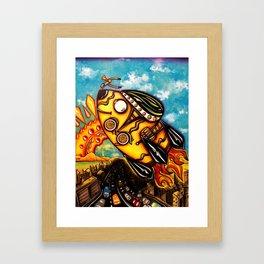 Rocket Bike Framed Art Print