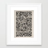 newspaper Framed Art Prints featuring - newspaper - by Magdalla Del Fresto