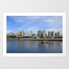 The City by the Sea Art Print