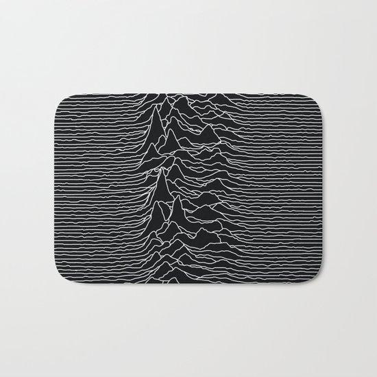 Unknown Radio Waves - Unknown Pleasures Bath Mat