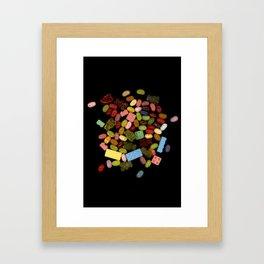 Candy Splash Framed Art Print