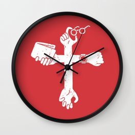 Sign of the Cross Wall Clock
