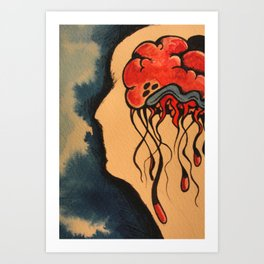 Jelly Brain Art Print