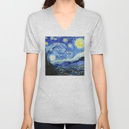 The Starry Night - Vincent van Gogh Unisex V-Neck