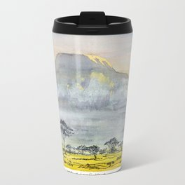 Kilimanjaro at Sunset Travel Mug