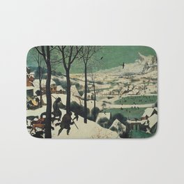 HUNTERS IN THE SNOW - BRUEGEL Bath Mat