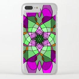 Decorative arabic round lace ornate mandala Clear iPhone Case
