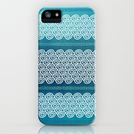 Abstract Ocean Waves Pattern iPhone Case