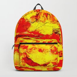 golden autumn leaves watercolor Backpack