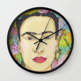 Frida de las flores Wall Clock