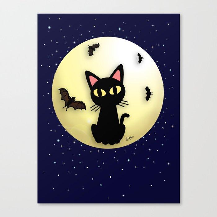 Cat and Bats Canvas Print