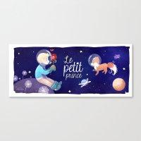le petit prince Canvas Prints featuring Le petit prince by LadyAlouette