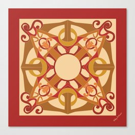 Support Love Mandala - Warm Canvas Print