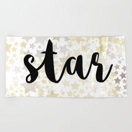 Golden Stars Beach Towel