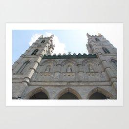 Notre Dame in the sky Art Print