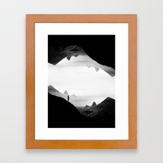 black wasteland isolation Framed Art Print