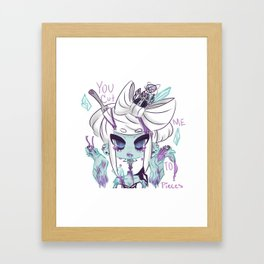 Cut me to pieces Framed Art Print