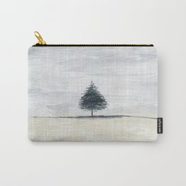 Lone tree in desert Carry-All Pouch