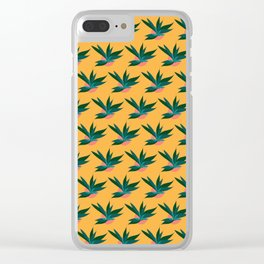 Tropicalia Gold Clear iPhone Case