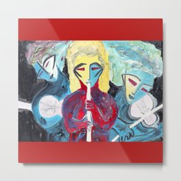 Three Blue Jazz Sisters    #society6 #decor #buyart Metal Print
