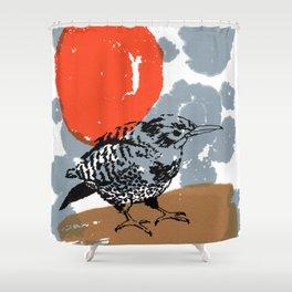 Northern Flicker Abstract Woodpecker Bird and Sun Shower Curtain