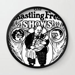 The Ghastling Freak Shows - B&W Wall Clock