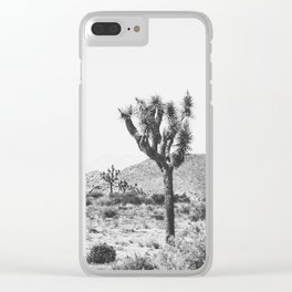 Joshua Tree Monochrome, No. 1 Clear iPhone Case