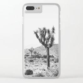 Joshua Tree Monochrome, No. 1 Clear iPhone Case