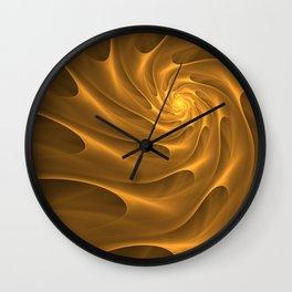 Gold Sahara. Hot desert. Sand dunes. Abstract golden spiral Wall Clock