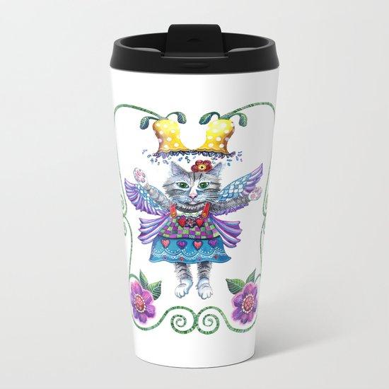 Angel Kitty Metal Travel Mug