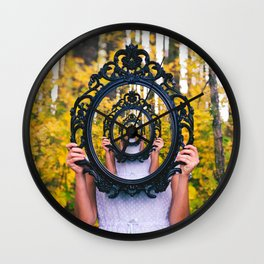 fear of mirrors / catoptrophobia Wall Clock