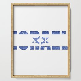 Israeli Flag Israel Jewish Star of David Jerusalem Gift Serving Tray