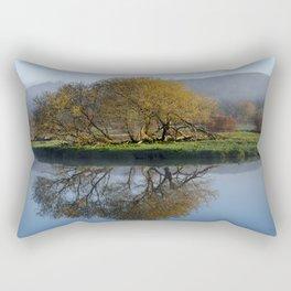 Tree Reflection Landscape Rectangular Pillow
