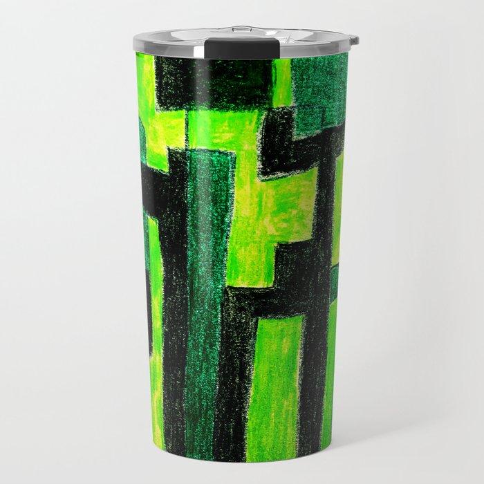 Three Green Puzzle Travel Mug