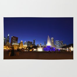 Chicago skyline panorama Rug