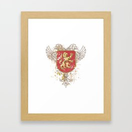 Coat of Arms Shield - Griffin Seal - Crown Lion and the Mark Framed Art Print