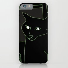 Neon Black Cat Shoulder Piece Slim Case iPhone 6s