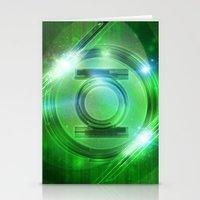 green lantern Stationery Cards featuring Green Lantern by Tobia Crivellari