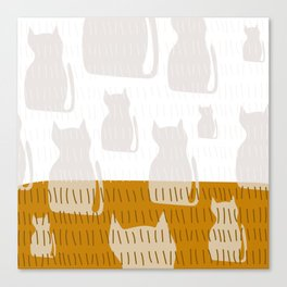 Coit Cat Pattern 4 Canvas Print
