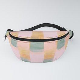 Sunrise Stripes Digital Watercolor Fanny Pack