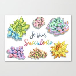 Succulente Plant Canvas Print