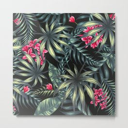 Tropical leave pattern 9.2 Metal Print