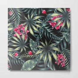 Tropical leave pattern 9.2 Metal Print